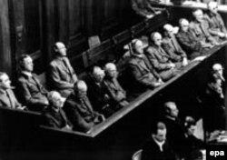 Абвінавачаныя падчас Нюрнбэрскага працэсу.