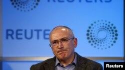 Бывший глава ЮКОСа Михаил Ходорковский. Лондон, 26 ноября 2015 года.
