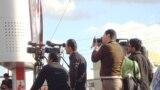صحفيون كرد يغطون تظاهرات في ساحة السراي بالسليمانية