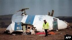 Resturile avionului PAN AM care s-a prăbușit la Lockerbie omorând toate cele 259 de persoane aflate la bord