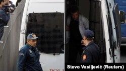 Privođenje osumnjičenih za učešće u državnom udaru, Podgorica, 16. oktobar 2016.