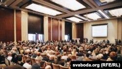 Падчас форуму прадпрымальнікаў у Менску, 1 лютага 2016 году