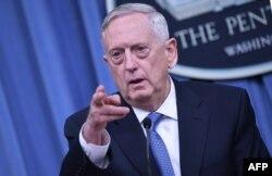 U.S. Secretary of Defense Jim Mattis at the Pentagon on April 11.