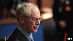 Belgiýanyň premýer-ministri Herman Wan Rompuý, 19-njy noýabr, 2009-njy ýyl.