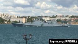 Фрегат «Адмірал Макаров» у окупованому Севастополі