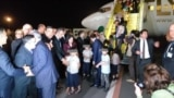 Tajikistan -- FLYERBIL Airplane delivered tajik kids from Iraq to Dushanbe, 30Apr2019