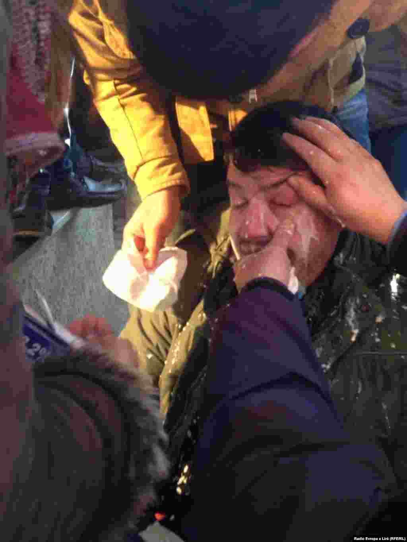 "Kosovo - Clashes during Prishtina University protests against ""corruption affairs"", 7 February 2014."