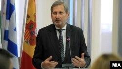 Еврокомесарот за проширување Јоханес Хан