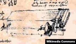 Viola organista layihəsi Leonardo da Vinci-nin bloknotunda