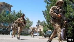 Pamje e pjesëtarëve të sigurisë së Afganistanit
