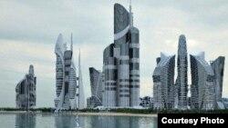 Проект «Каспийские острова», осуществляемый на азербайджанском побережье.