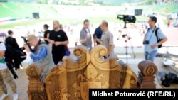 Pripreme za dolazak Pape, foto: Midhat Poturović