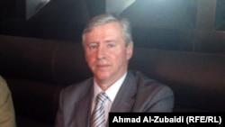الصربي فلاديمير بتروفيتش، المدرب الجديد للمنتخب الوطني العراقي بعد وصوله الى بغداد (الأربعاء)