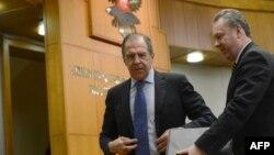 Міністр закордонних справ Росії Сергій Лавров і речник відомства Олександр Лукашевич