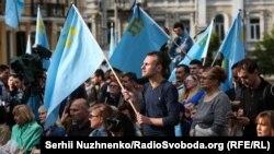 День памяти жертв геноцида крымскотатарского народа в Киеве. 18 мая 2018 года