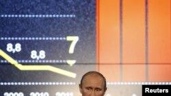 Владимир Путин выступает на Сочинском инвестиционном форуме.