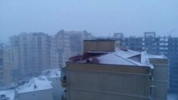 Снегопад в Баку