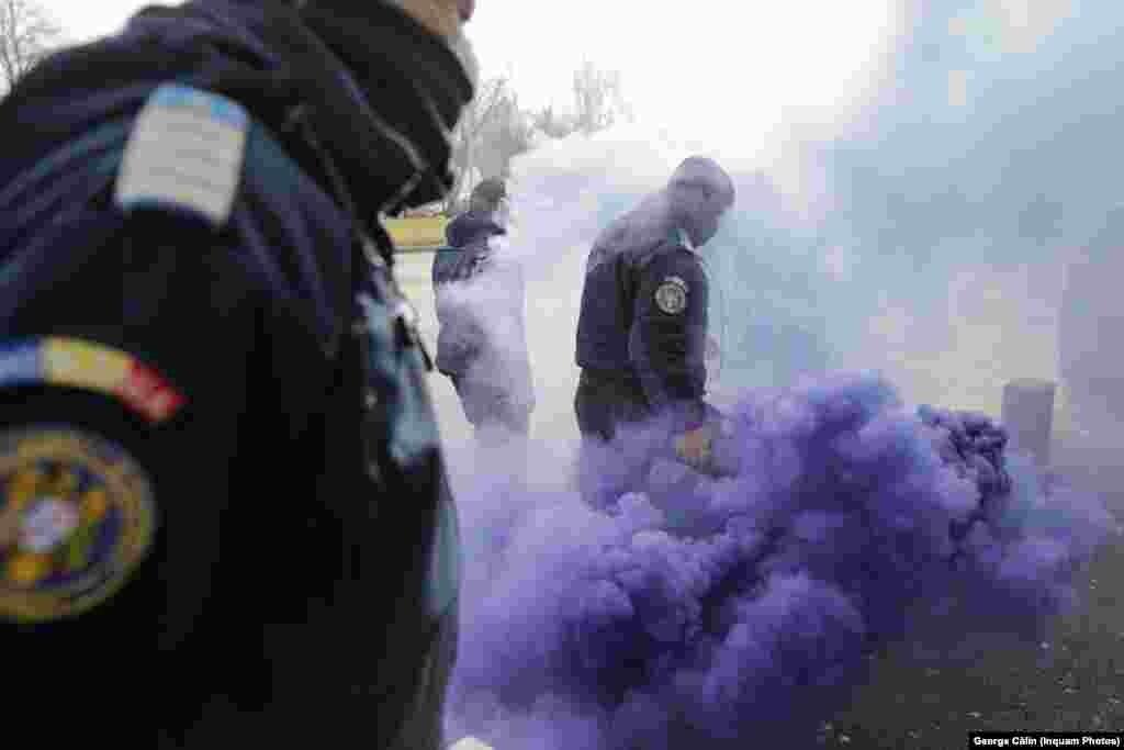 La protestul polițiștilor nu au fost încă date amenzi, dar forțele de ordine spun că vor face asta în funcție de faptele constatate.