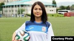Футболчу Айдана Оторбаева.
