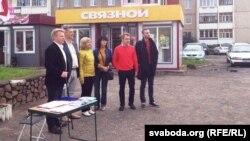 Пікет з удзелам лідэраў правацэнтрысцкай кааліцыі 21 ліпеня