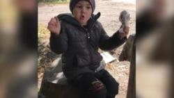 Золоте-4. Георгій, 4 роки. Показує, як звучить різна зброя