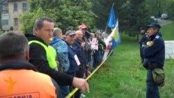 """Protest radnika """"Hidrogradnje"""" u Sarajevu"""