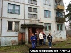 Russia -- Ukrainian refugees in the Pskov region, 12 December 2015