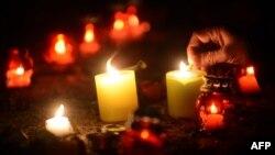 У Києві вшанували пам'ять загиблих на Грушевського, 24 січня 2014 року