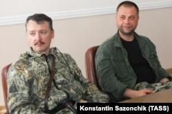Громадяни Росії Ігор Гіркін (ліворуч) і Олександр Бородай в окупованому Донецьку