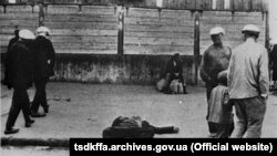 Померлий від голоду на одній із вулиць Харкова