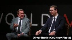 Gerhard Šreder i Aleksandar Vučić