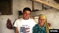 The author with his Tajik mother