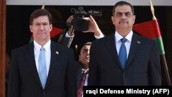 АКШнын коргоо министри Марк Эспер менен Ирактын коргоо министри Нажах ал-Шаммари.