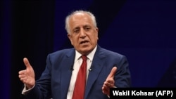 FILE: U.S. special representative for Afghan peace and reconciliation Zalmay Khalilzad.