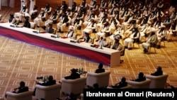 هیئت سیاسی حکومت افغانستان و گروه طالبان در قطر