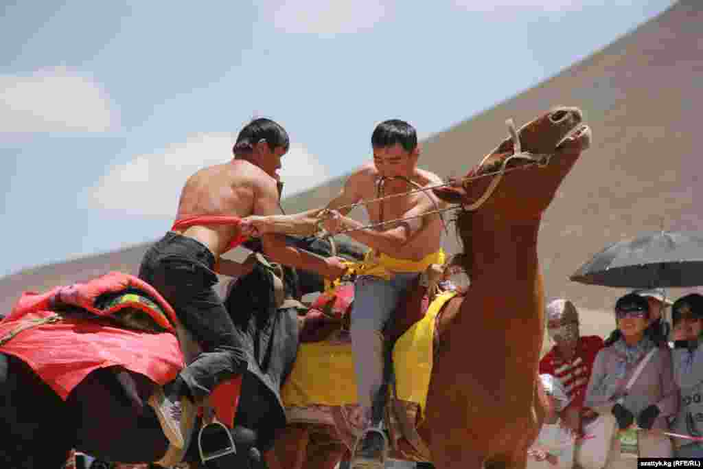 Traditional Kyrgyz horse games are the highlight of the festival.