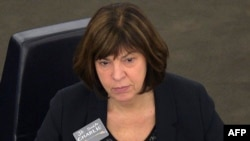 German member of the European Parliament Rebecca Harms (file photo)