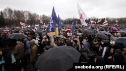 Акция оппозиции в Минске по случаю Дня воли