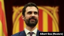 Каталония парламентінің жаңадан сайланған спикері Роже Торрен, 17 қаңтар 2018 жыл.