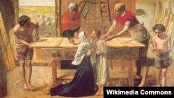 """Джон Эверетт Милле. """"Христос в доме своих родителей"""""""