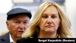 Елена Батурина с супругом.