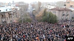Rally organizers said 100,000 people gathered in Yerevan, while the police said only 5,000 showed.