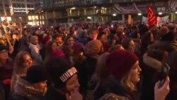 В Брюсселе состоялся «Марш женщин» против Дональда Трампа