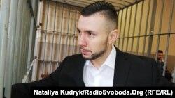 Віталій Марків, нацгвардієць, перед початком суду 12 квітня 2019 року