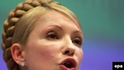 Ukrainian Prime Minister Yulia Tymoshenko at the international conference on the modernization of Ukraine's gas transit system in Brussels on March 23.
