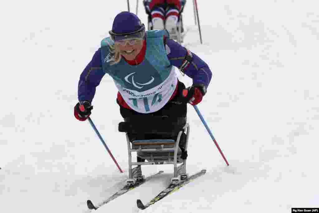 Российская спортсменка Мария Иовлева восьмая в гонке на биатлонской трассе на дистанции 12,5 км среди лиц с поражением опорно-двигательного аппарата в категории «стоя»