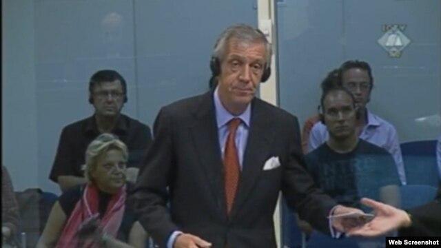 Aernout Van Linden svjedoči na suđenju Ratku Mladiću, 21. kolovoz 2012.
