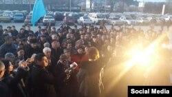 Акция протеста крымских татар (Крым, Симферополь, 26 января 2015 года)