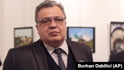 Russian Ambassador Andrei Karlov was shot dead while speaking at a photography exhibition in Ankara in December 2017.