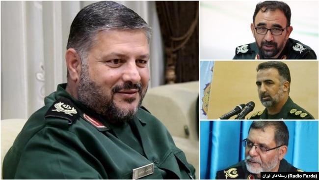 "The commander of IRGC's regional HQ in the North of Iran ""Samen-ol-Aeme"", Hassan Mortazavi and his provincial deputies YaghoubAli Nazari (Khorasan Razavi), Ali Ghasemi (Khorasan Jonoubi), and Aboulghasem Chaman (Khorasan Shoma"